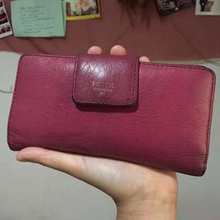 FOSSIL WALLET FUSCHIA AUTHENTHIC
