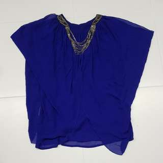(2nd item 30% off) Purple Batwing top