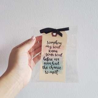 [INSTOCK] Valentine Quote Bookmark