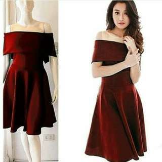 Dress macy maroon,navy