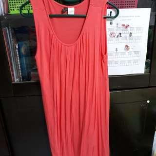 $20 Preloved Pink Orange Mothers En Vogue M Size Maternity Nursing Dress