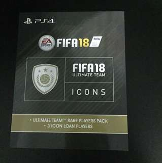 PS4 FIFA 18 Ultimate Team Rare Players Pack DLC