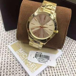 Michael Kors Slim Runway Gold-Tone Watch