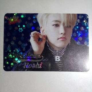 Seventeen Hoshi 順榮 Yes card 閃卡