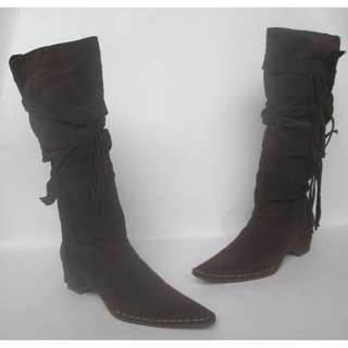 Moccasin Knee High Boots