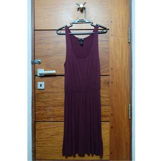 H&M Maroon Sleeveless Dress