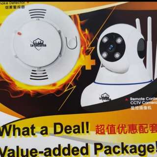 [NEW YEAR PROMOTION] smoke detector and CCTV deal