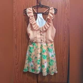 A1 - PEACH DRESS (Never worn)