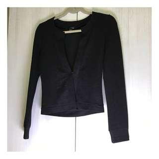 🚚 50%薄黑西裝外套S