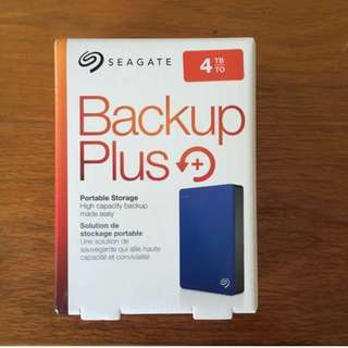 4TB Seagate Backup Plus Portable Hard Disk Drive HDD Storage