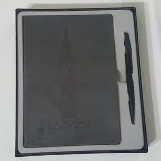Byford London Note Book with Ball Pen set