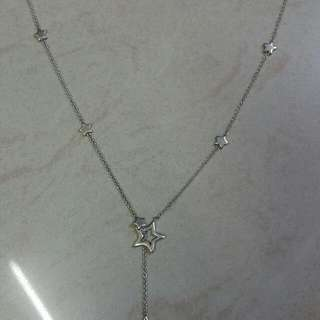星、星、星 925 純銀 頸鍊