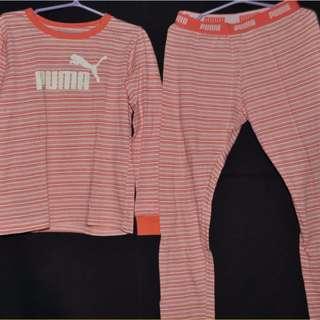 Puma Girls Jogger pants and shirt