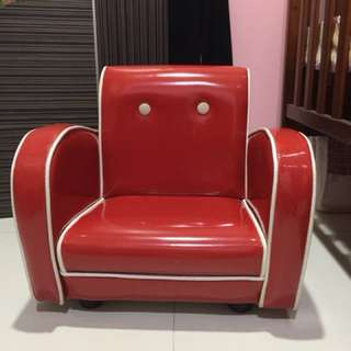 Red kids single arm chair