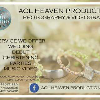 Wedding , Debut , Birthdays, Baptismal, Christening and Parties... Photography and Video Highlights