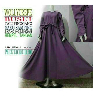 Gamis Wollycrepe Exclusive