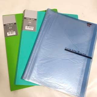 [FREE] Used 3pcs A4 Popular clear file 20pockets