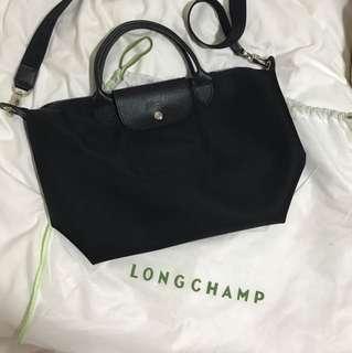 Black long champs bag