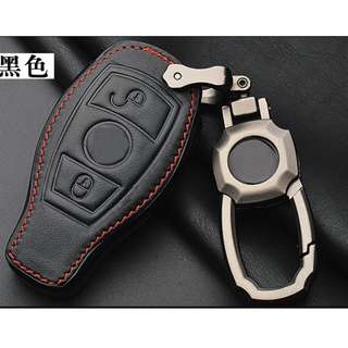 Mercedes Benz Key Leather Pouch Metal Hook