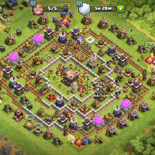 Clash Of Clans Account Maxed th11
