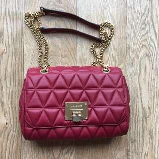 [IS] Micheal Kors red leather sloan shoulder/crossbody bag
