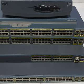 Cisco router and switch