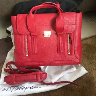 Philip lim medium red ghw with strap and dustbag
