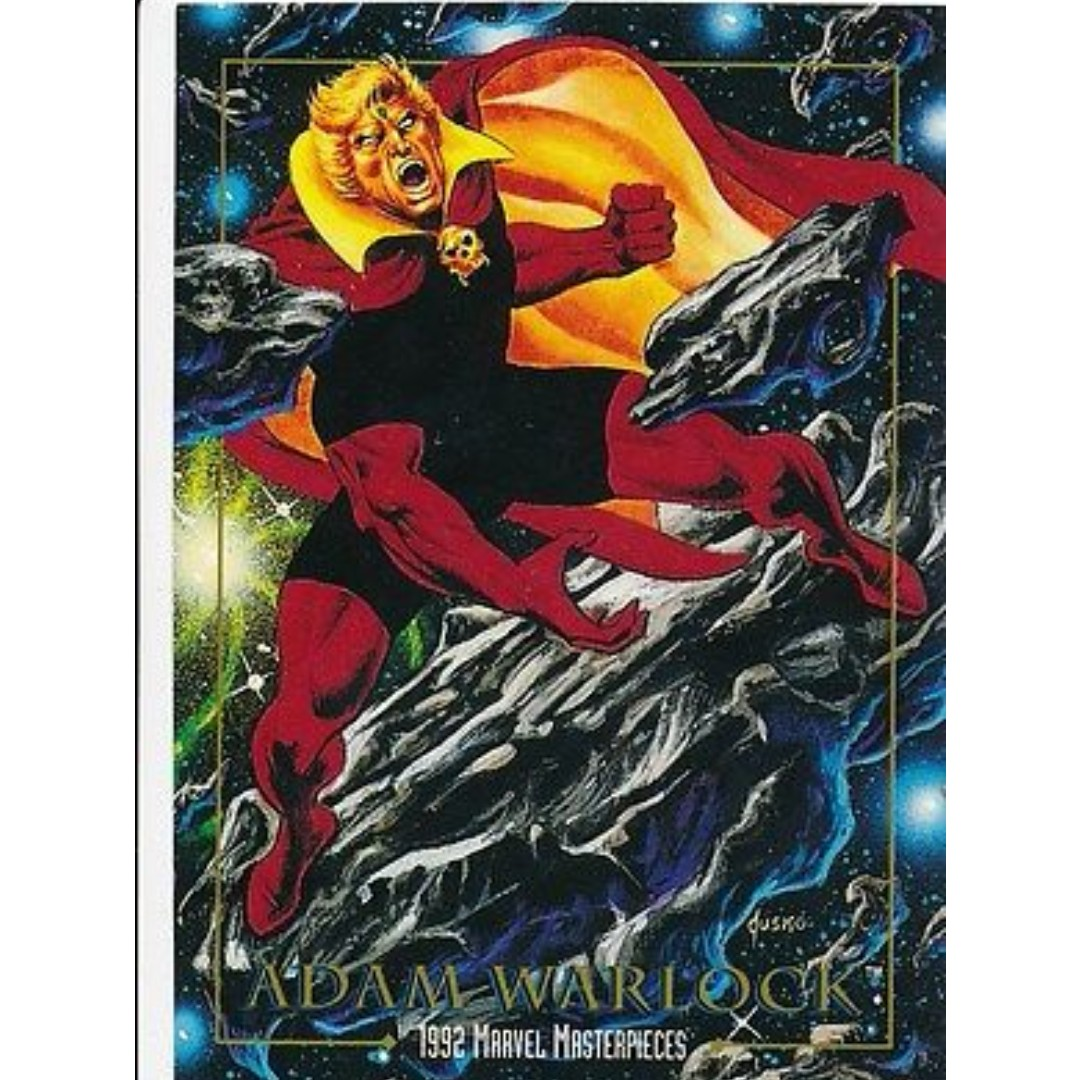 1992 Marvel Masterpieces Base Card 10 Adam Warlock Toys Games Mouse Pad Efreet Board Cards On Carousell