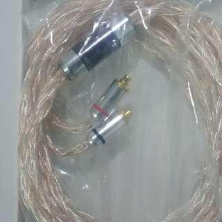 16絞銅鍍銀2.5mm mmcx耳機升級線