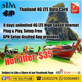 Thailand 4G LTE Data card
