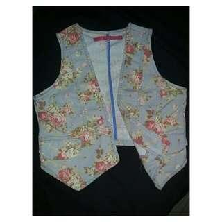 📌Floral vest (repriced)