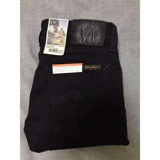 (INSTOCK) Nudie Jeans Tight Long John Organic Black Black