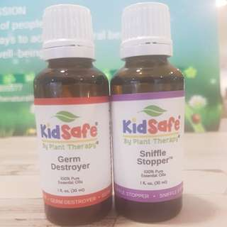 Essential Oil Set of 2 : PLANT THERAPY GERM DESTROYER AND SNIFFLE STOPPER