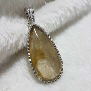 ☡40%off Pendant (Rutilated Quartz*发晶)Weight