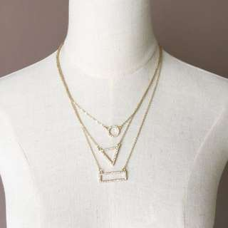 Trendy Shapes Layer Necklace