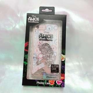迪士尼 愛麗絲夢遊仙境 iPhone 6/ 7 流沙閃粉電話殼