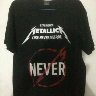 Baju Kaos Metallica Second Mulus