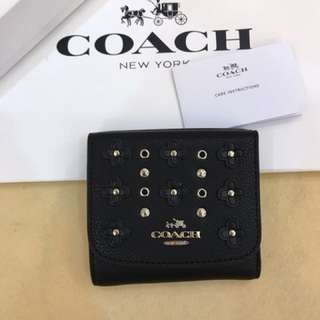Authentic Coach women short wallet purse pouch coin bag ori
