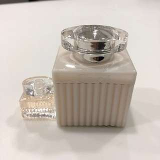 Chloe Body lotion and miniature