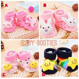 Baby Booties Socks with Anti-slip Sole (0-6mth)