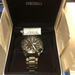 Seiko SSA007K1 全黑PVD 手錶