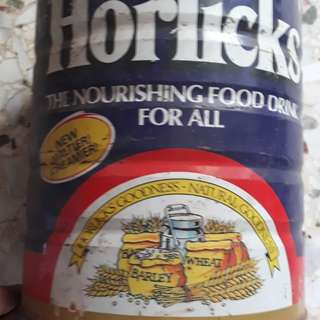 Vintage HORLICKS , The Nourishing Food Drink For All - 2 Kg Tin w/o Lid - Packed in SINGAPORE under Licence from ENGLAND
