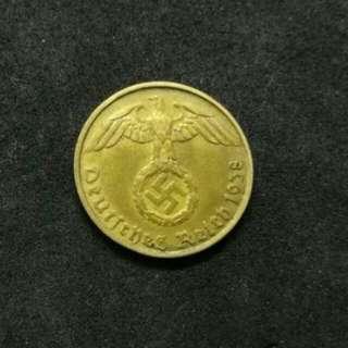 Nazi 5 Rp coin 1937