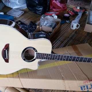Gitar akustik elektrik yamaha apx tuner