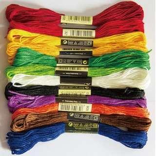 100pcs random cross stitch threads (all randon