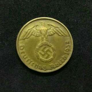 German Nazi 10 Rp coin 1937s