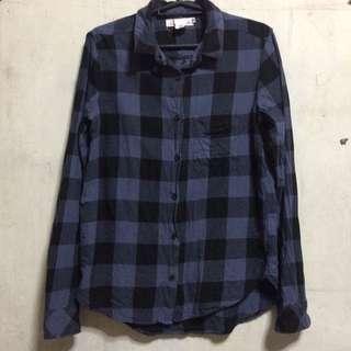 H&M Checkered long sleeves