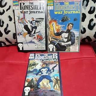 3 (1991) Marvel Comics The Punisher War Journal complete set of 3 Part 1 to Part 3
