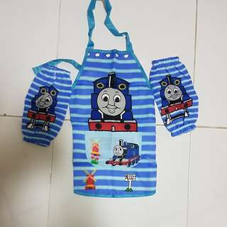 Thomas the train waterproof apron with pocket and 2 sleeves
