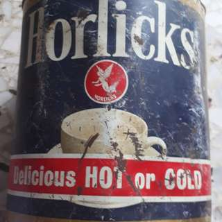 Vintage HORLICKS , Delicious HOT or COLD - 5 Lb Tin - Packed in SINGAPORE under Licence from ENGLAND